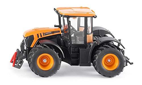 siku 3288, JCB Fastrac 4000 Traktor, 1:32, Metall/Kunststoff, Orange, Achsschenkellenkung und...