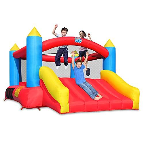 ACTION AIR [Aktualisierte Version Hüpfburg, Aufblasbarer Spielhaus mit Gebläse, Rutsche Kinder Für...
