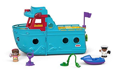 Fisher-Price FXJ47 - Little People Schiff mit Figuren und Zubehör, deutschsprachig, Kleinkind Spielzeug...