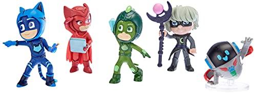 Simba 109402364 - PJ Masks Figuren Set / Pyjamahelden und Bösewichte / 5 Action Figuren / 8cm groß,...