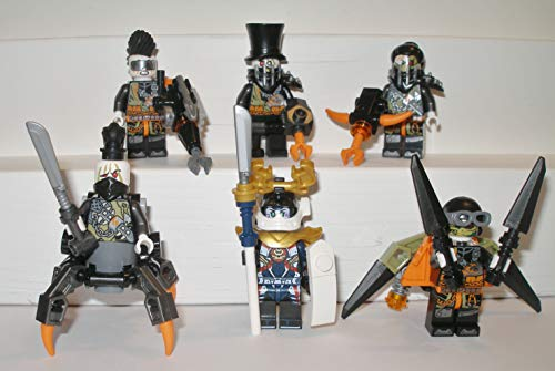 6 Lego Ninjago Drachenjäger Schurken Figuren Ninja Figur Eisen Baron Samurai X Heavy Metal Jet Jack...