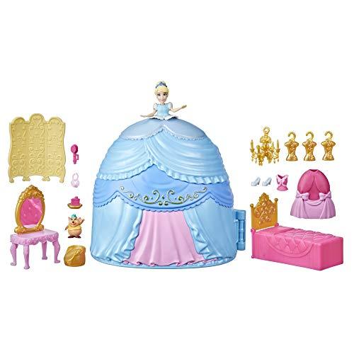 Disney Princess F1386 Prinzessin Styling Überraschung Cinderellas Rock, Spielset mit Puppe, Möbeln und...