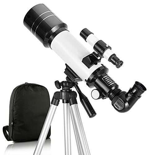 Teleskop, 70mm Blende 400mm AZ-Halterung Astronomisches brechendes Teleskop für Erwachsene Kinder...