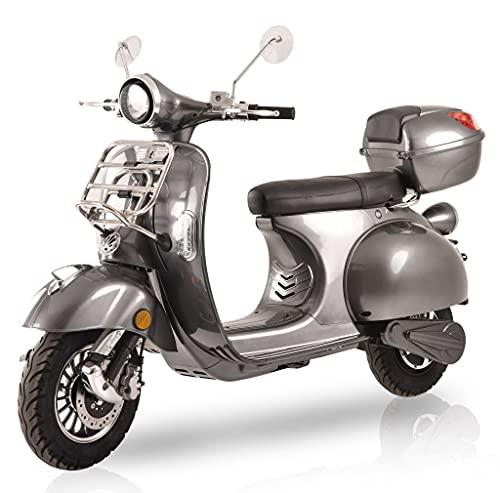 "Elektroroller ""Classico Li"", 3000 Watt, E-Scooter, Windschild, E-Roller mit Straßenzulassung, 45..."