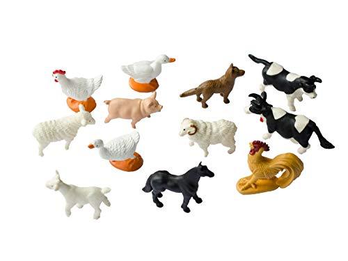 Miniblings 12x Bauernhoftiere Tierfiguren Haustiere Tiere Farmtiere Bauernhof
