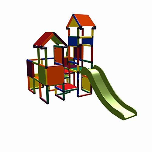 move and stic 6524 - Spielburg Moritz, Kletterturm mit Rutsche Multicolor, geeignet für Kinderzimmer,...