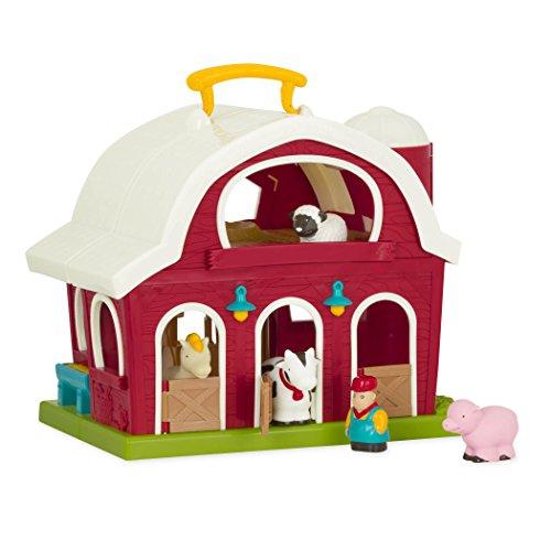 Battat – Große Scheune – Bauernhof Spielzeug Set mit Tieren für Kinder und Babys ab 18 Monaten (6...