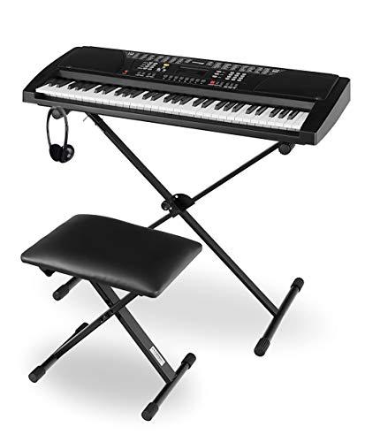 Funkey Super Kit 61 Tasten Keyboard Set - Einsteiger Keyboard mit 100 Sounds & Rhyhmen - Inklusive...