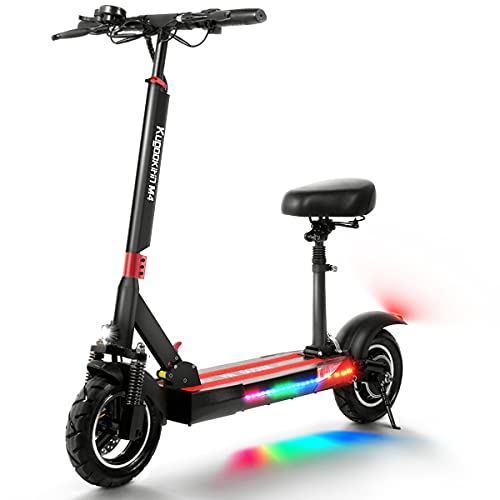 Elektro Scooter Erwachsene 500W Elektroroller mit 48V 10Ah Batterie Geschwindigkeit 43 Km/h, 45 Km...