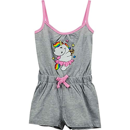 Pummeleinhorn Pummel & Friends Kinder Mädchen Kleid Jumpsuit Pummelfee, grau (98/104)