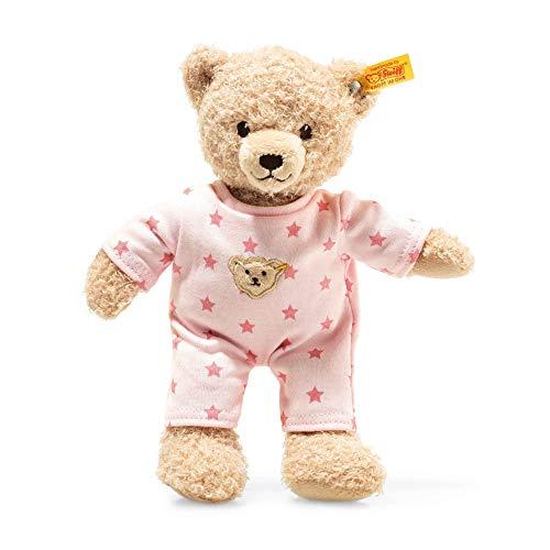 STEIFF Teddy and Me Teddybär Mädchen Baby mit Schlafanzug - 25 cm - Teddybär mit rosa Schlafanzug -...
