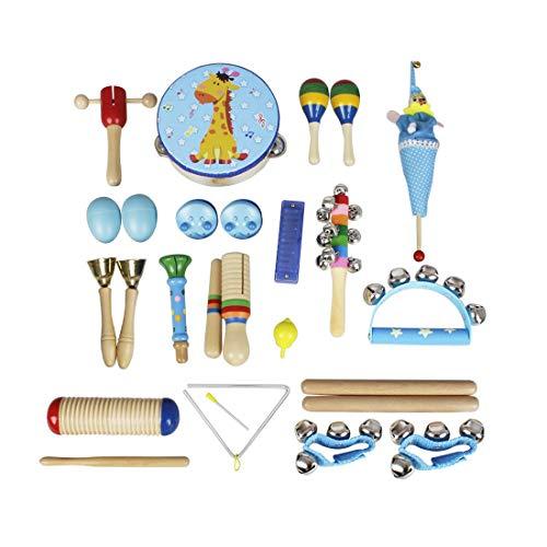 Edmend Baby-Musikinstrumente 22pcs Kleinkind-Musik-Spielzeug-Set Bildung Percussion Spielzeug-Geschenk...
