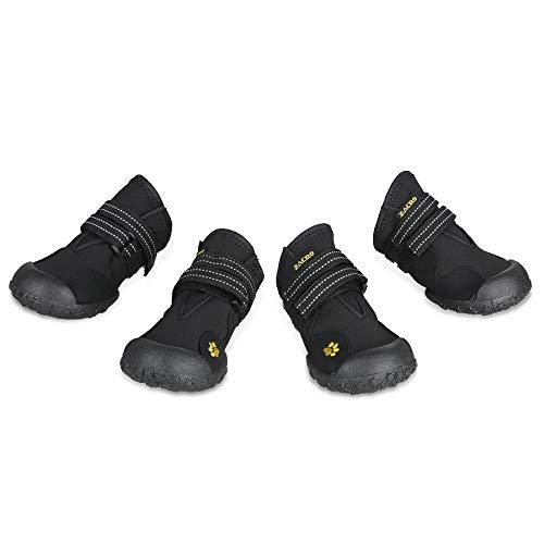 Zacro 4PCS Hundeschutzstiefel Wasserdicht Schuhe mit Wwei Reflektierenden Riemen und Einer Robusten...