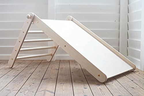 Kletterling Holzspielzeug Bergziege (Pikler-Dreieck mit integrierter Rutsche) ab 10 Monaten