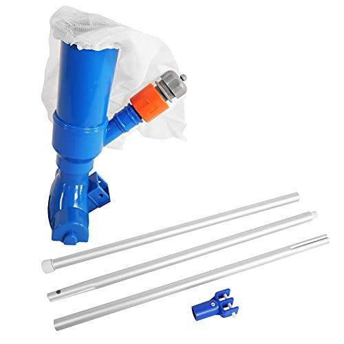 well2wellness® Poolsauger Venturisauger Blue Magic mit 3-teiliger Teleskopstange