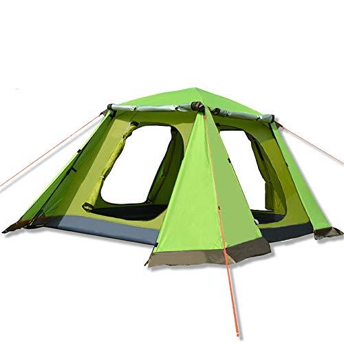 Zelten Family Camp Zelt Freien Außen Double Layer 3-4 Person Automatische Zelt Regenfest Camping...