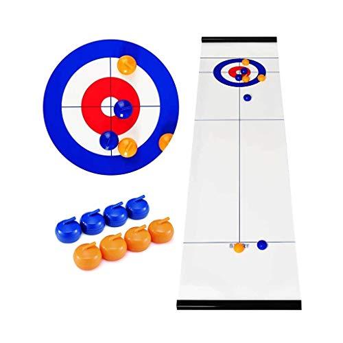 Schnelles sling puck spiel Tisch-Curling-Spiel Tischplatte Kompaktes Brettspiel mit 8 Rollen für...