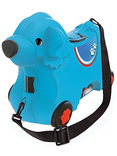 BIG - Bobby-Trolley - Kinderkoffer und Spielzeug 2 in 1, mit verstellbarem Gurt, Kindergepäck mit...
