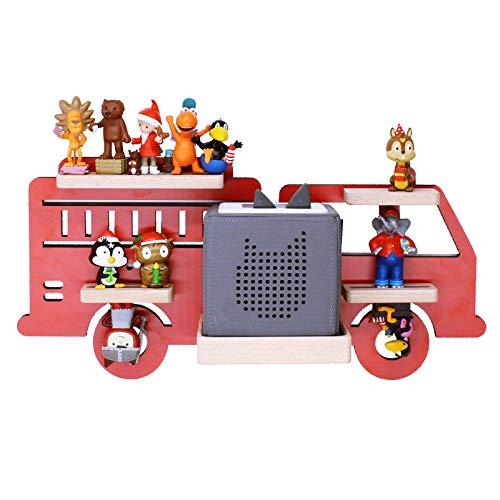 BOARTI Kinder Regal Feuerwehr small in Rot, Feuerwehrauto geeignet für die Toniebox und ca. 20 Tonies -...