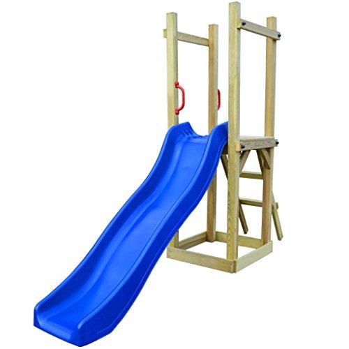 Festnight - Kletterturm Spielplatz mit Rutsche und Leiter