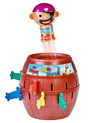TOMY T7028A1 Kinderspiel 'Pop Up Pirate', Hochwertiges Aktionsspiel für die Familie, Piratenspiel zur...