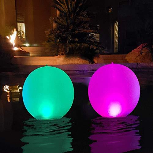 14' LED Solarlichter, LED Solar Ball Licht Schwimmende Pool Lichter Wasserdichte Solar Glow Globe,...