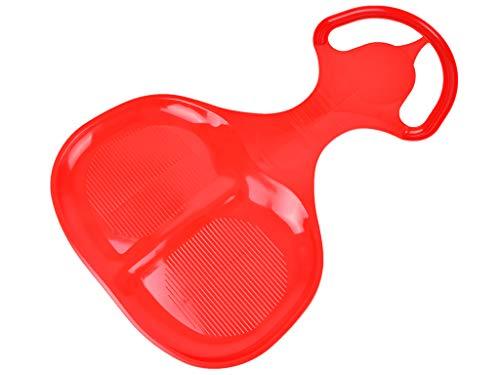 MARMAT Schneerutscher Porutscher Kinder Schneeflitzer Schlitten Tutschteller Rodel Groß (Rot)