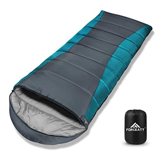 Forceatt Schlafsack für Camping 3-4 Jahreszeiten und kaltes Wetter (0 ℃ bis 20 ℃.)...