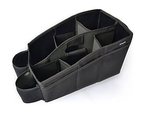 Auto Organizer, Utensilientasche für den Autositz mit 2 Befestigungsmöglichkeiten, wasserabweisende...
