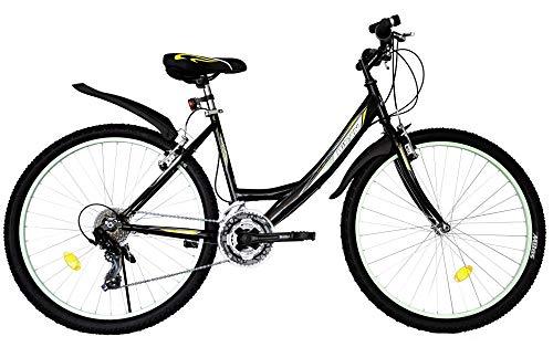 T 26 Zoll Kinder Mädchen Damen Fahrrad Mädchenfahrrad Mädchenrad Mountainbike MTB Bike Rad 21 Gang...