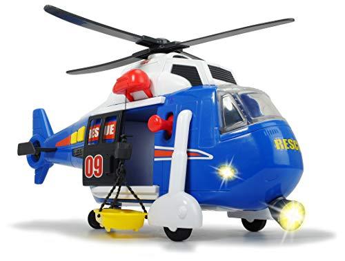 Dickie Toys Spielzeughelikopter mit batteriebetriebenen Drehpropeller, Helikopter mit beweglicher...