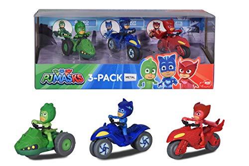 Dickie Toys PJ Masks 3er Set Moon Rover, PJ Masks Set mit 3 Mondfahrzeugen, PJ Masks Spielzeug, 3 PJ...