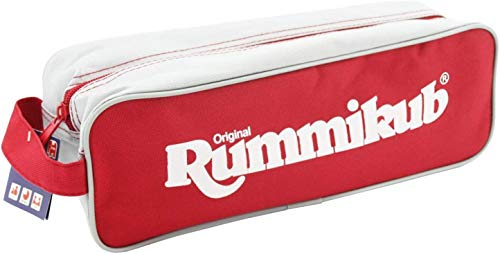 Jumbo Spiele 03975 Original Rummikub Pouch Gesellschaftsspiel, Spiel in Tasche, Legespiel, Ab 7 Jahren