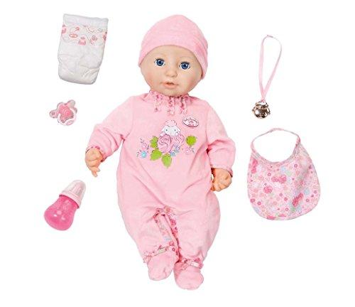 Baby Annabell B01EJKLX2U weiche Babypuppe mit vielen lebensechten Funktionen mit Schlafaugen und...