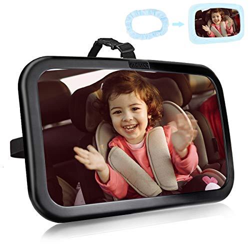 FACIACC Rücksitzspiegel Baby Autospiegel Safe Acryl Bruchsicherer Kinderspiegel Rückspiegel mit 360 °...