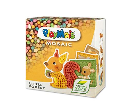 PlayMais Mosaic Little Forest Kreativ-Set zum Basteln für Kinder ab 3 Jahren | Über 2.300 Stück & 6...