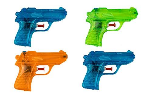 BG Wasserpistole Spielzeug für Kinder - 4 Mini Wasserpistolen mit großer Reichweite für den Strand...