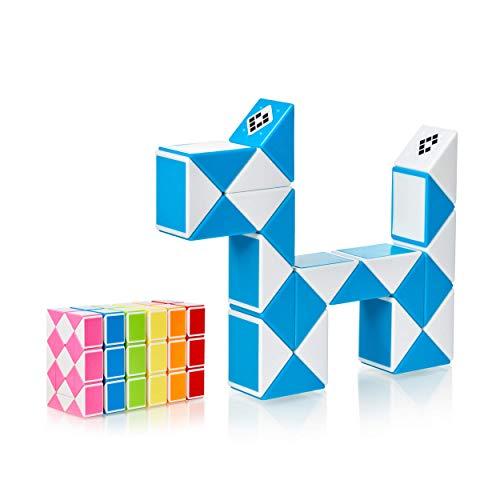 CUBIDI® Magic Snake mit 24 Blöcke - Knobelspiele für Kinder und Erwachsene - ideal als Mitgebsel...