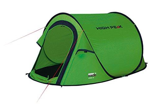 High Peak Wurfzelt Vision 2, Pop Up Zelt für 2 Personen, Festivalzelt freistehend, super leichtes...