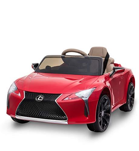 HOMCOM Kinderauto von Lexus Kinderfahrzeug Elektroauto mit MP3 Licht Musik Kunststoff Metall Rot...