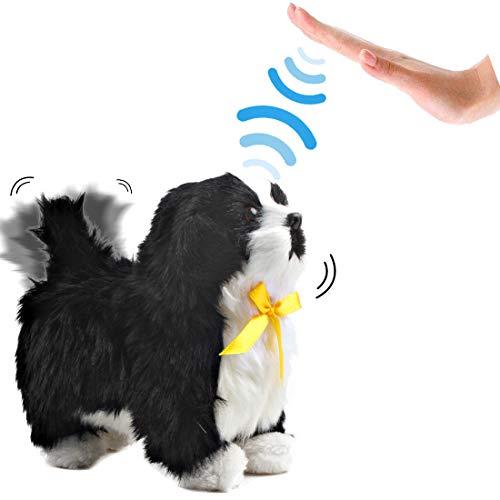 deAO Interactive Electronic Haustier Dog Toy mit Bellen, Gehen, Schwanzwedeln Berührungserkennung und...