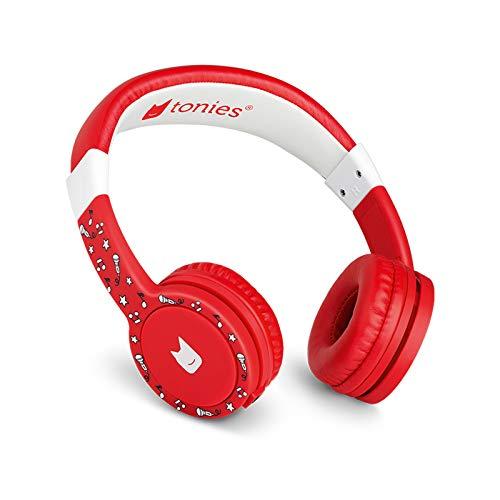 Tonie-Lauscher rot: Kinder Kopfhörer passend zur Toniebox - Lautstärke reguliert, Abnehmbares Kabel,...