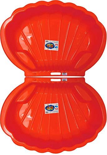 2-er Sandkasten Sandmuschel Muschel Wasser Planschbecken groß 108x79cm XL, 5 Farben! (Rot)