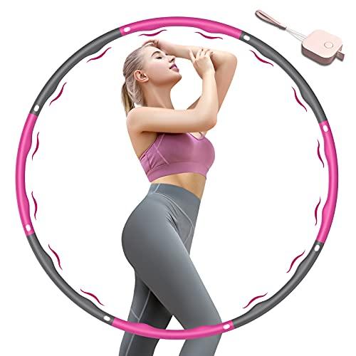 KISSCAT Fitness Hula Hoop Reifen Erwachsene & Kinder, 6-8 Segmente Abnehmbarer Fitness Hoola Hoop Reifen...