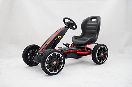 GDToys ® Kinder Pedal Go-Kart, ABARTH Lizenz, Rutscher Auto, Pedal Go Cart, 3–8 Jahre 3 FARBEN...