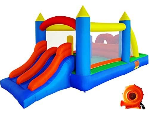 Ballsea Hüpfburg (Aktualisierte Version) Aufblasbares Spielhaus mit Gebläse, Kinderspielburg mit...