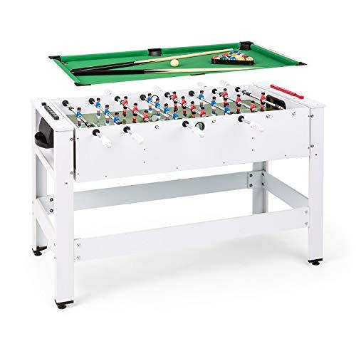 Klarfit Spin 2-in-1 Multifunktionstisch, Billardtisch 105 x 58 cm / grüne Bespannung, Tischkicker...