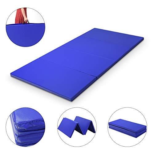 COSTWAY Weichbodenmatte 300 x 120 x 5 cm   Gymnastikmatte klappbar   Yogamatte verbindbar   Turnmatte...