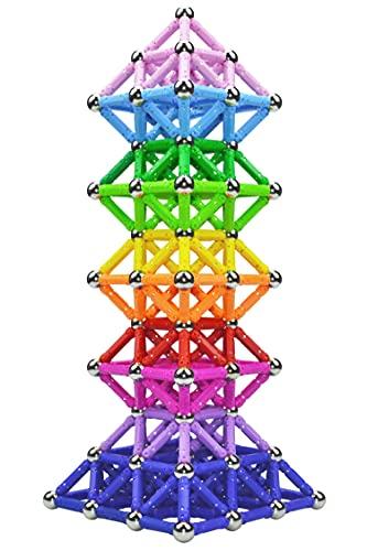 Veatree 206 Stück Magnetische Bausteine Set Spielzeug MagnetSpiel Magnetstäbchen Spielzeug für Kinder...