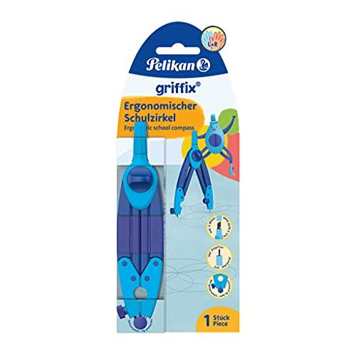 Pelikan Zirkel griffix, ideal für die Schule, ergonomische Form, inkl. Ersatzminen & Anspitzer